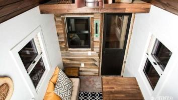 """View from the loft of """"The Roving"""" (Source: 84 Tiny Houses)"""